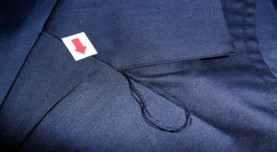 Untrimmed thread apparel quality control